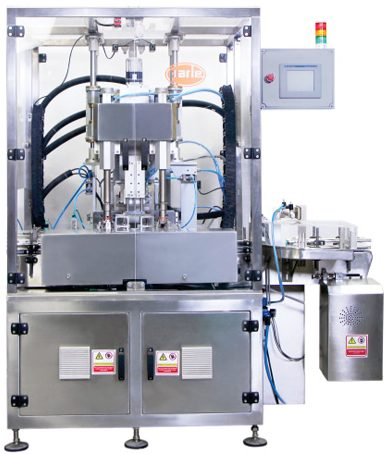 PSC-62 Single Head Press and Screw Combination Capping Machine, Round shape and Flat Press Type Caps with shaped containers, Bottle Capping Machines